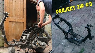 PROJECT PIAGGIO ZIP #3!!! | FRAME OVERBOUWEN!!!!