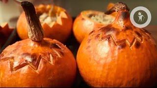 Запеченная тыква с начинками (Halloween pumpkin)