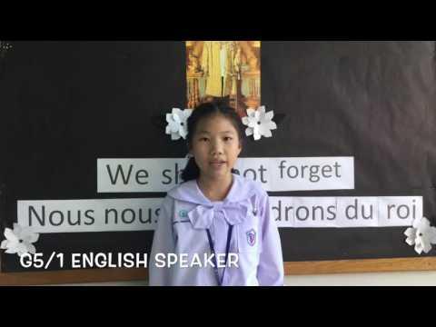 NOVEMBER 2016  ENGLISH SPEAKERS