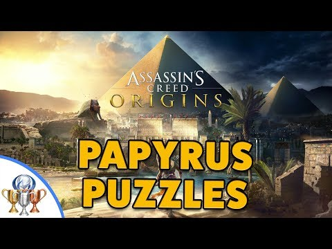Assassin's Creed Origins PAPYRUS PUZZLES - All Papyrus Mystery Puzzle and Solutions Walkthrough