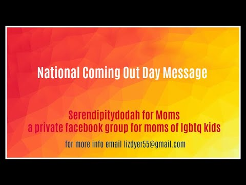 National Coming Out Day Message