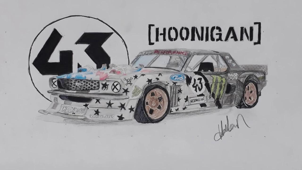 Ford mustang 1965 hoonicorn v2 araba çizimi dream