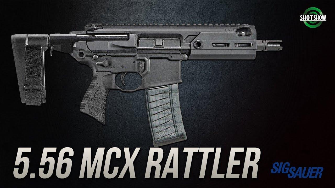 Best Of Shot Show 2019 Sig Sauer 5.56 MCX Rattler   SHOT Show 2019   YouTube