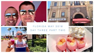 Walt Disney World & Florida Vlog - May 2018 - Day 3 - Pt 2 - Via Napoli, Frushi & Violet Lemonade