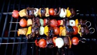 Teriyaki Kabobs On The Grill