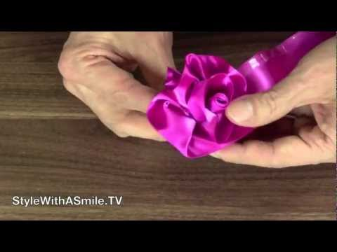 How to make roses out of ribbon youtube for Cool things to do with roses