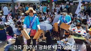 ● 8.15 건국 70주년 광화문 태극기 물결!