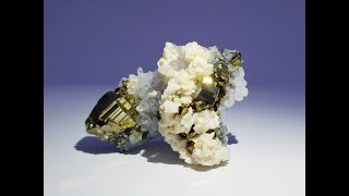 Pyrite and Dolomite on Quartz from Dongxiang Co., Jiangxi, China