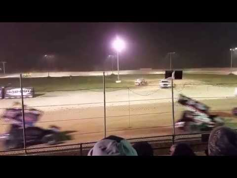 World of outlaws at I -96 speedway finish 2015