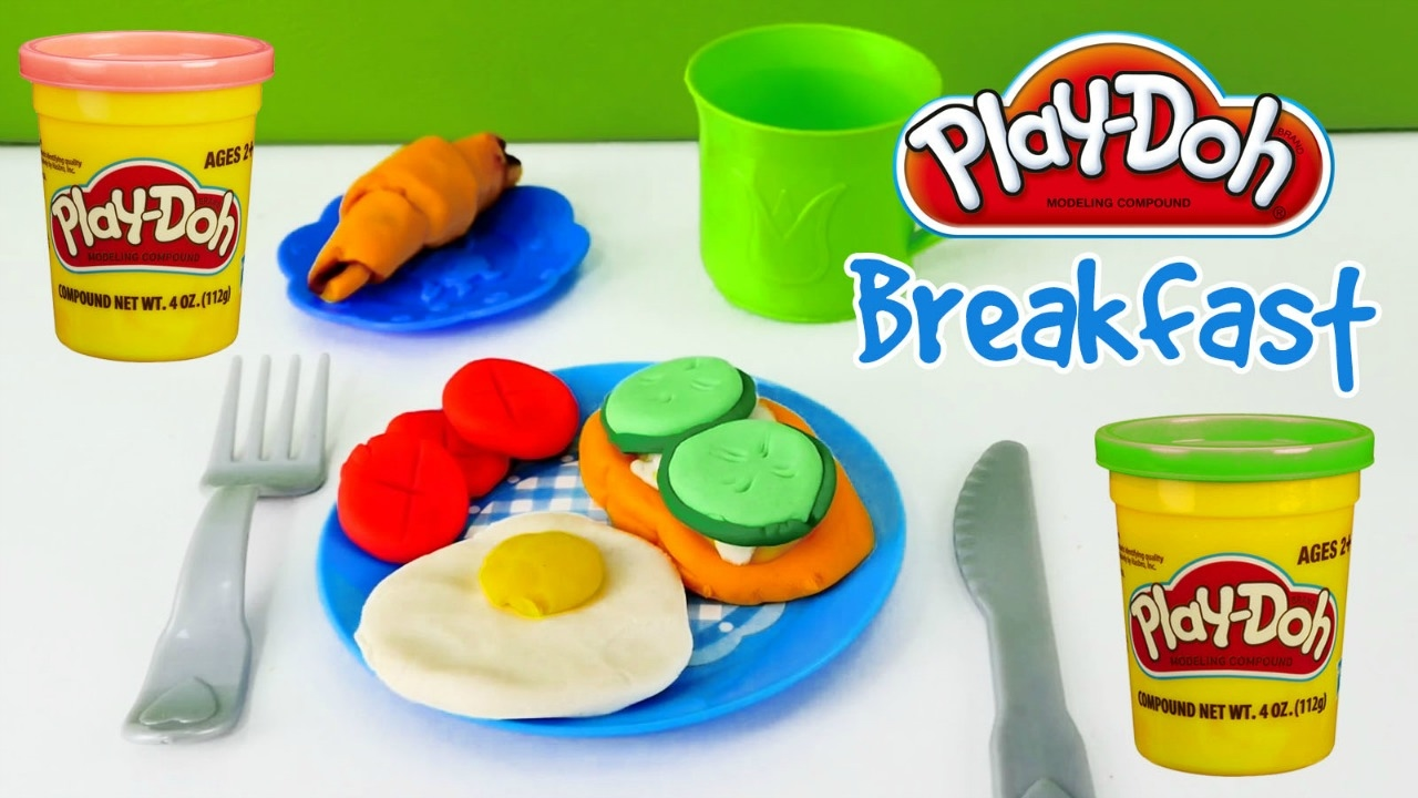 play doh cooking breakfast diy for kids youtube. Black Bedroom Furniture Sets. Home Design Ideas