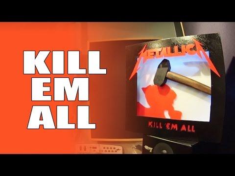 Makers Rock Album Collab / Metallica / Kill Em All / backlit led Hanging wall art / Make Video