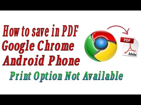 How To Save File In PDF Format In Google Chrome In Android Phone