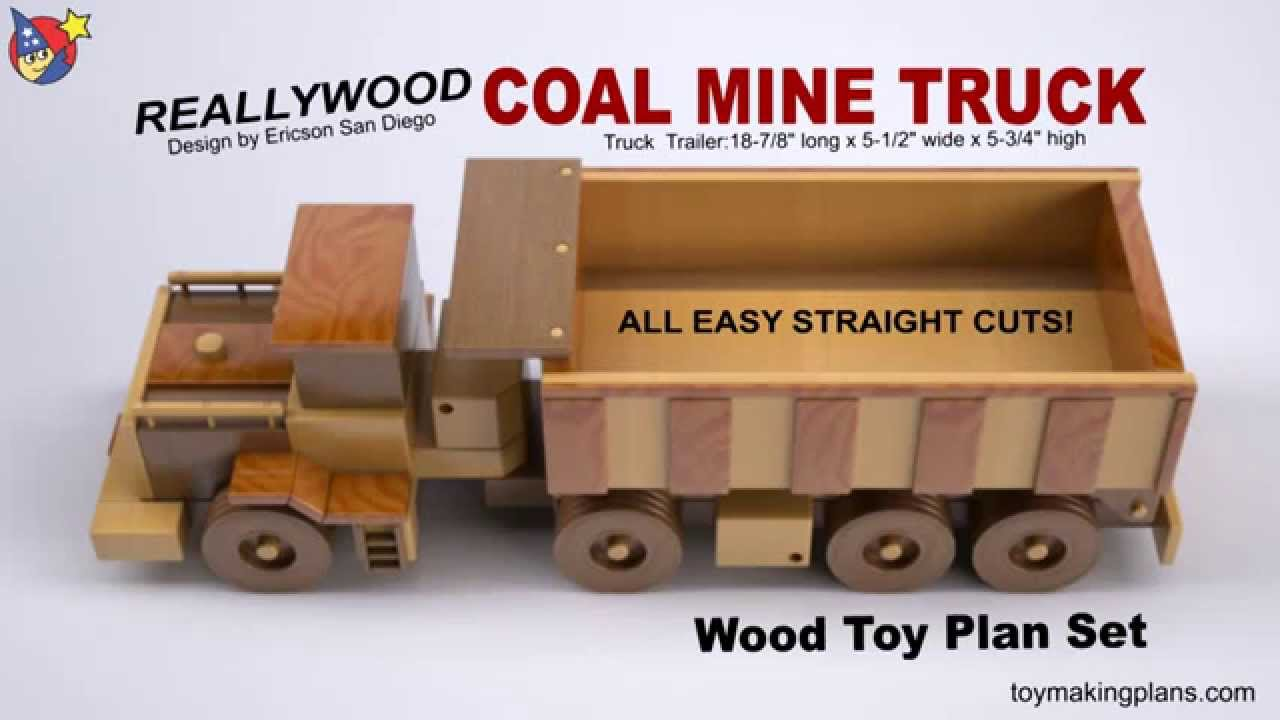 Building Plans For Toy Trucks : Wood toy plan coal mine truck youtube