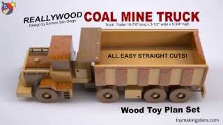 Wood Toy Plan - Coal Mine Truck