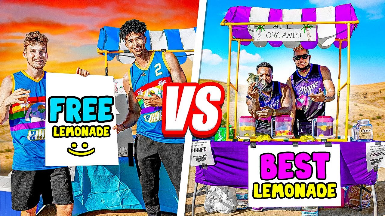 Who Can Make The Most MONEY With A Lemonade Stand Challenge
