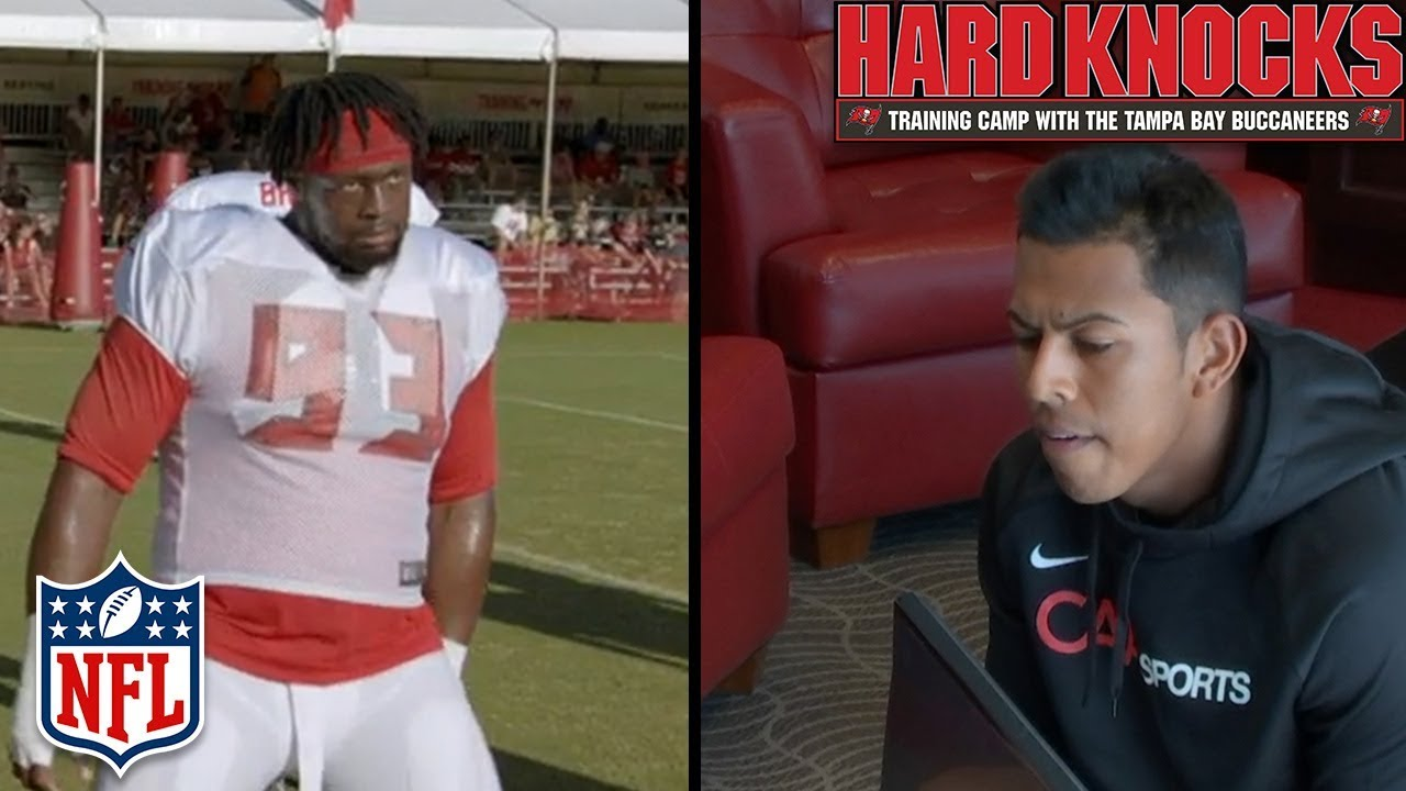 f674bf1d Aguayo Gets Cut & McCoy Tests the Boundaries of the New Celebration Rules |  Hard Knocks | NFL