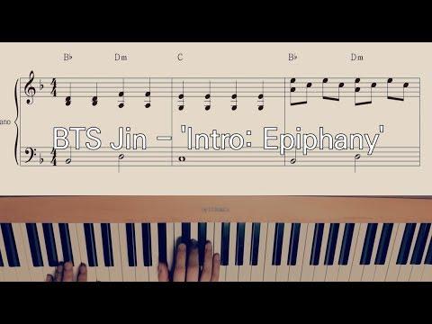 BTS Jin - Intro: Epiphany Easy Piano Sheet Music 방탄소년단 진 에피파니 인트로 쉬운 피아노 악보