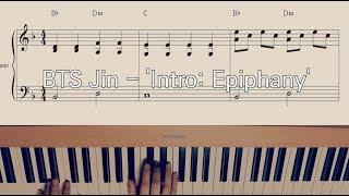 BTS Jin - 'Intro: Epiphany' Easy Piano Sheet Music 방탄소년단 진 에피파니 인트로 쉬운 피아노 악보