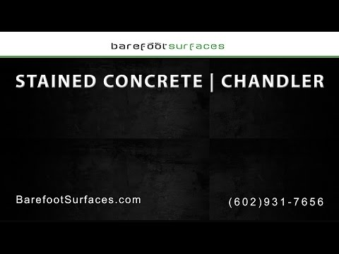 Stained Concrete Services in Chandler | Barefoot Surfaces