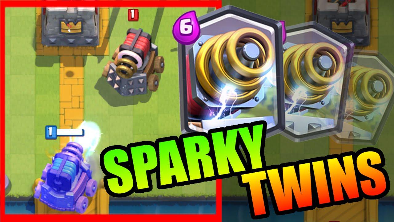 clash royale sparky has a epic sparky