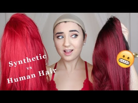 Human Hair Wig Vs Synthetic Wig Review (My First Time Wearing A Human Hair Wig)