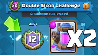 12 WINS DOUBLE ELIXIR CHALLENGE BEST DECK | Clash Royale | How to Win