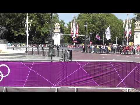 The Olympic Flag at Buckingham Palace London 2012