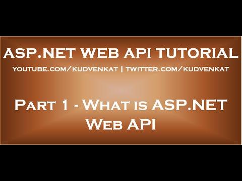 What Is ASP NET Web API