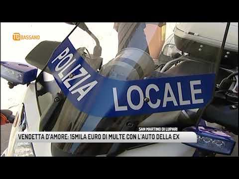 TG BASSANO (18/07/2018) - VENDETTA D'AMORE: 15MILA EURO DI MULTE CON L'AUTO DELLA EX