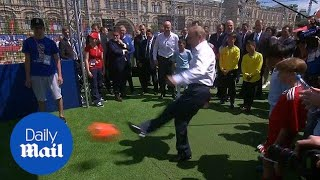 All net for Putin and Infantino at Red Square football pitch - Daily Mail