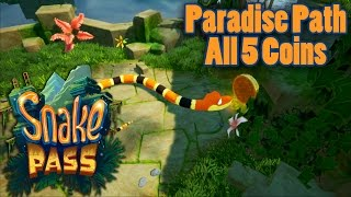 Snake Pass - Paradise Path: All 5 Coins