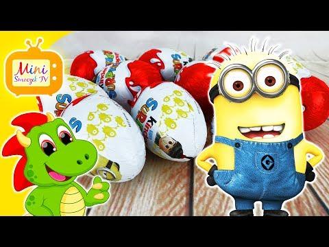 Gru, Dru i Minionki Jajka Kinder Niespodzianki! DUŻO JAJEK! Filmik Dla Dzieci Po Polsku