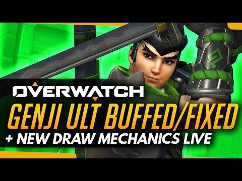 Overwatch   GENJI ULT BUFFED/FIXED - New Draw Mechanics Live!