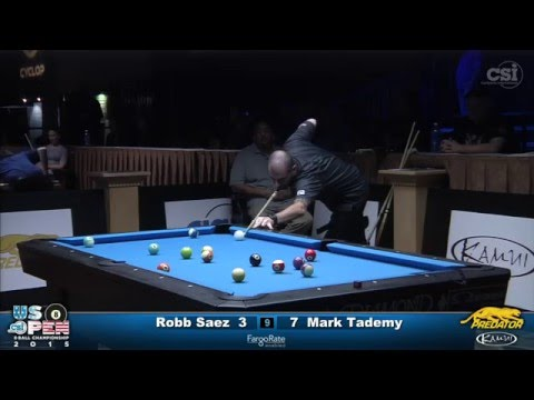 2015 US Open 8-Ball: Robb Saez vs Mark Tademy