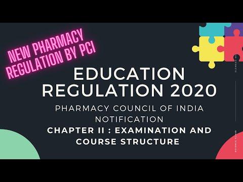 Part  II D Pharm Education Regulation 2020 pci education regulation 2020  course and examination