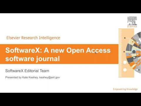 Software X: A new open-access software Journal. Science Software cluster June 17, 2017