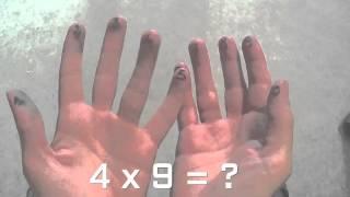 Astuce pour apprendre la table de 9 très facilement en 4 minutes chrono!