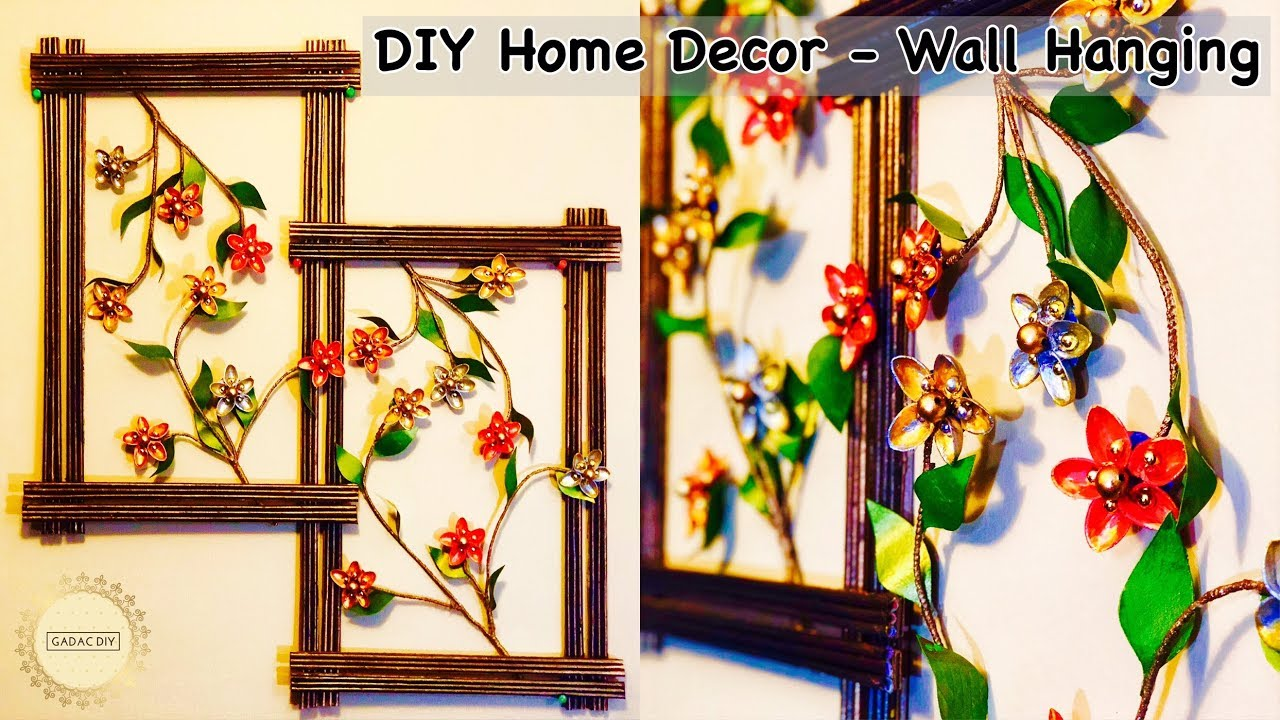 Diy Wall Hanging Crafts Diy Wall Decor Wall Hanging Craft Idea
