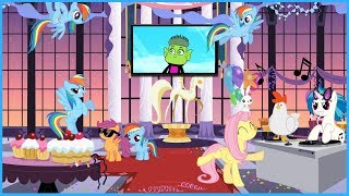 DJ PON3/VINYL VS CHICKEN!!! - Roblox: My Little Pony Roleplay is Magic (RiM)