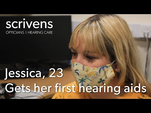 Jessica 23, gets her first hearing aids