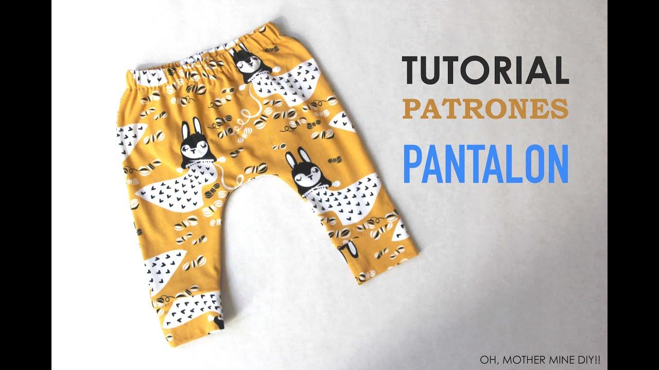 DIY Pantalon legins bebe (modelo 1) - YouTube e7d9a2078883