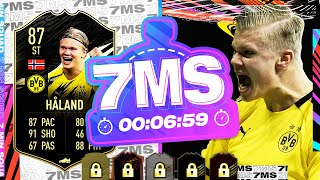 THE SENSATIONAL 87 SIF HAALAND!! 7 MINUTE SQUAD BUILDER - FIFA 21 ULTIMATE TEAM