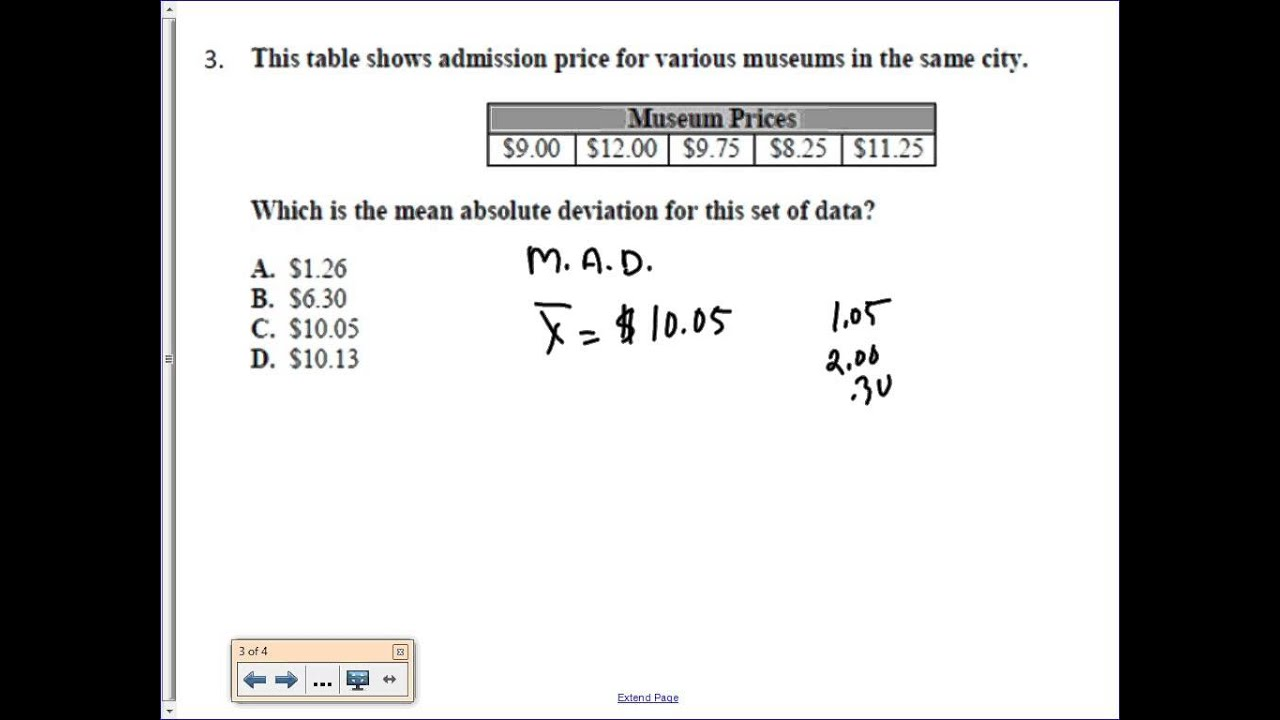 Printables Mean Absolute Deviation Worksheet eoct review 4 mean absolute deviation youtube deviation