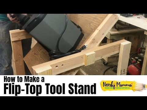 How to Make a Simple Flip-Top Tool Cart for the Workshop