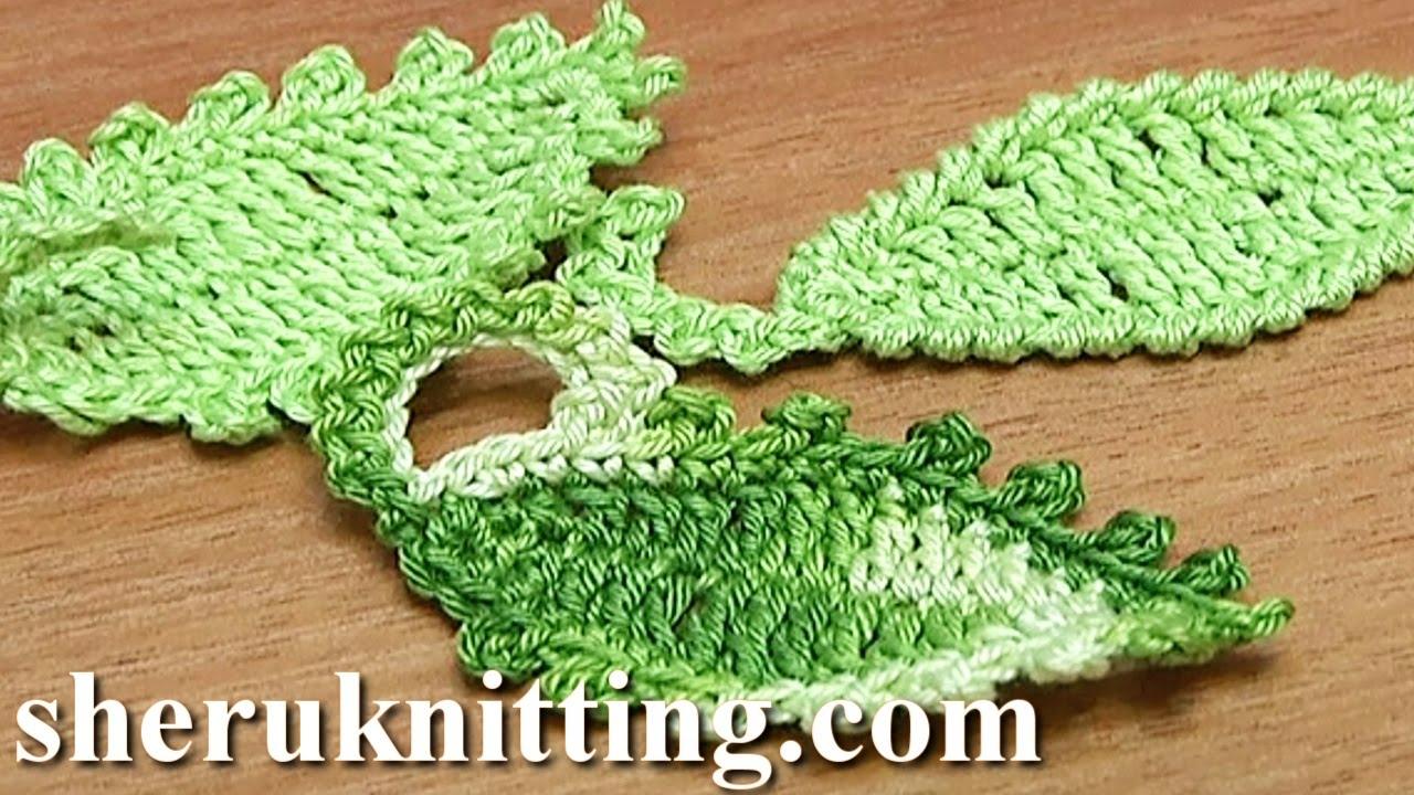 How To Crochet Leaf Oval Shape Tutorial 12 Youtube