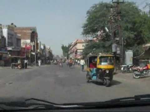 Driving in Bikaner City, Rajasthan Cultural tour.wmv
