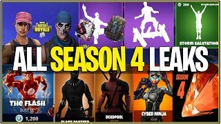 *NEW* Fortnite: ALL SEASON 4 LEAKS! | Everything we Know So Far! | (Skins,Particles, and More!)