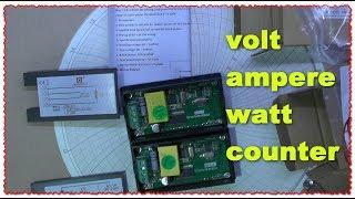 PZEM-021 Счётчик напряжения тока мощность. Тест обзор