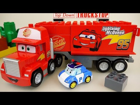 Download Youtube: Lego Cars Truck Block car and Robocar Poli car toys