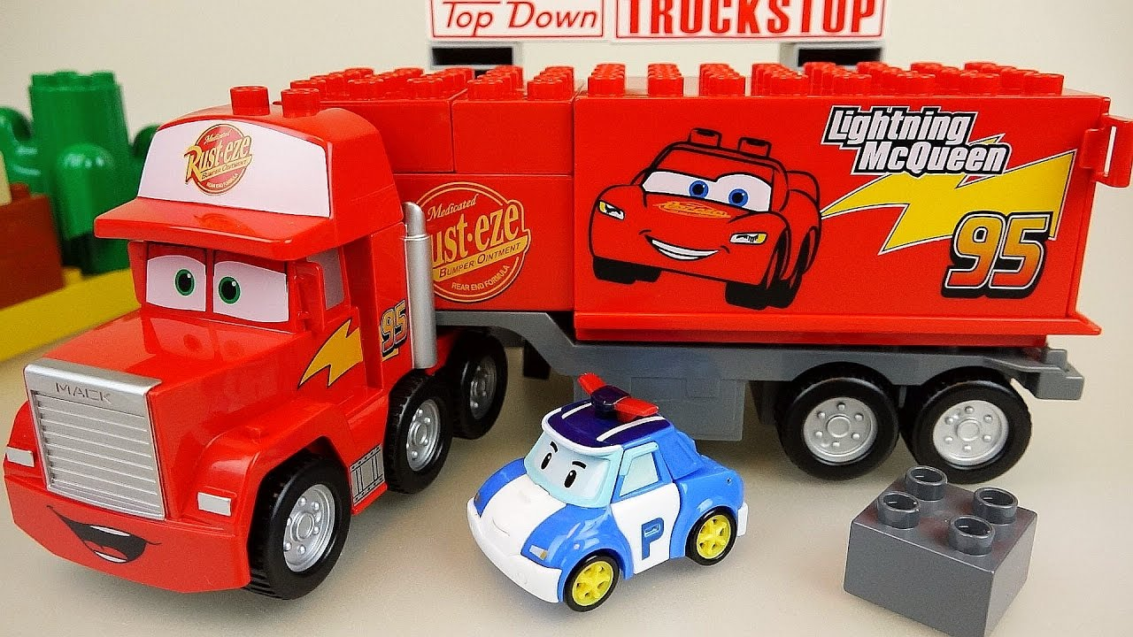 Toys For Cars : Lego cars truck block car and robocar poli toys youtube